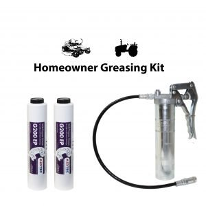 Lube shuttle grease gun and grease for lawnmowers